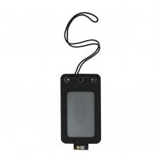 M-Tac бейдж з прозорою панеллю Black