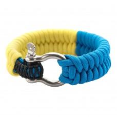 M-Tac браслет паракорд жовто-блакитний