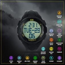 M-Tac годинник тактичний з крокоміром Black