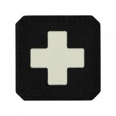 M-Tac нашивка Medic Cross Laser Cut Black/світлонакопичувач