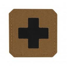 M-Tac нашивка Medic Cross Laser Cut Coyote/Black