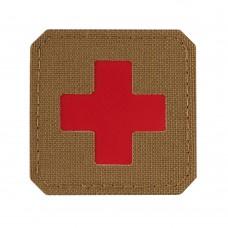 M-Tac нашивка Medic Cross Laser Cut Coyote/Red