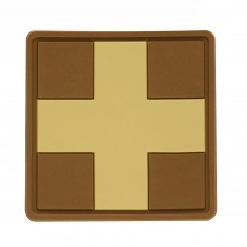 M-Tac нашивка Medic Cross Square ПВХ койот