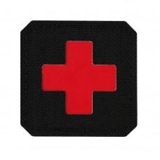 M-Tac нашивка Medic Cross Laser Cut Black/Red