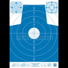 Алебарда мішень паперова №4М блакитна (5 шт)