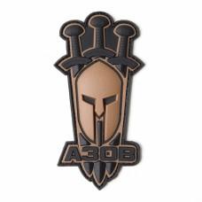 Arey нашивка Азов (Спартанський шолом) койот