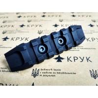 Крук рейка Пікатіні з кріпленням M-Lok чорна (5 слотів, 2 скоса)