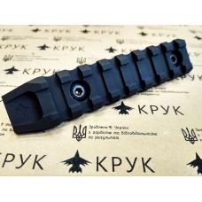 Крук рейка Пікатіні з кріпленням M-Lok чорна (6 слотів, 1 скос)